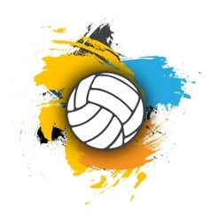 Volleyball logo on the background of multi vector
