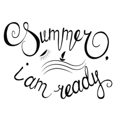 with lettering composition summer time vector image vector image