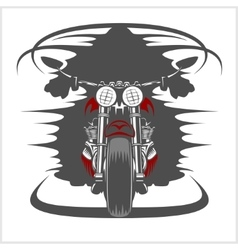 Motorcycle front view and racer vector image