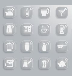 Utensils for the preparation of beverages vector