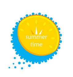 sun and water in the form of a clock icon vector image