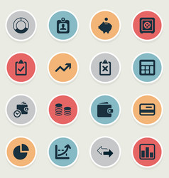 Set of simple finance icons vector