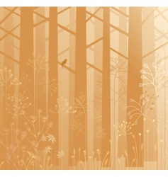 Undergrowth in the mist vector