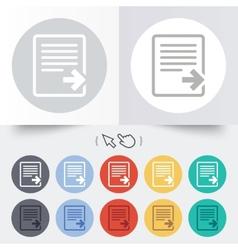 Export file icon file document symbol vector