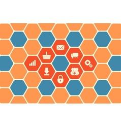 Hexagon Texture vector image