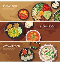 asia street food web banner vector image