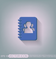 Phone address book vector