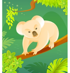Cute cartoon koala vector