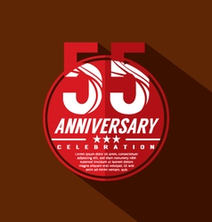 55 years anniversary celebration design vector
