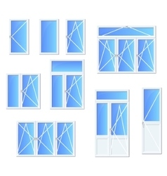 Different types of windows and doors vector
