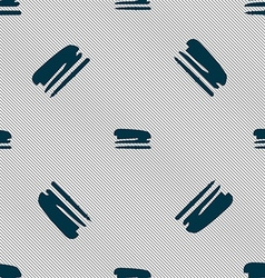 Stapler and pen icon sign seamless pattern with vector