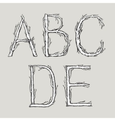 Hand drawn alphabet vector
