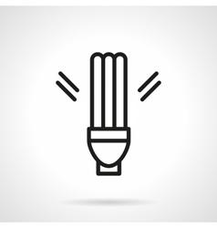 Fluorescent lamp simple line icon vector