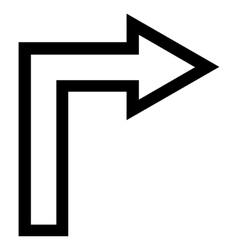 Turn right stroke icon vector
