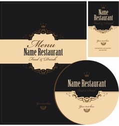 design elements for restaurant vector image