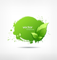 Green leaf concept ecology vector image