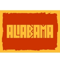 Alabama state name vector