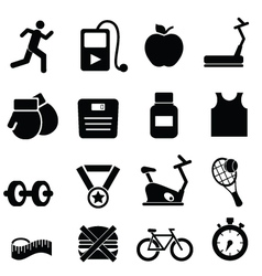 Gym training icons vector