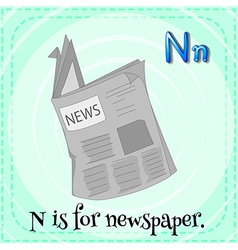 A letter n for newspaper vector