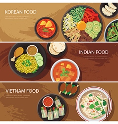Asia street food web banner vector