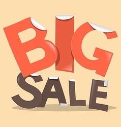 Big Sale Labels - Stickers in Retro Style vector image vector image
