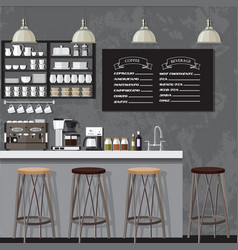 Blackampwhite coffe shop vector
