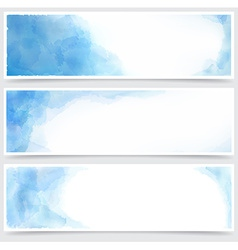 Blue watercolor abstract banners vector image vector image