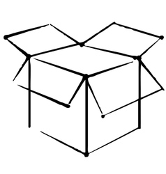 Box icon vector image vector image