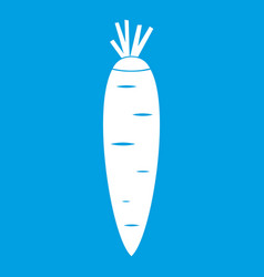 carrot icon white vector image vector image