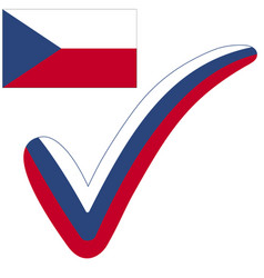 check mark czech republic flag symbol elections vector image vector image