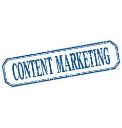 Content marketing square blue grunge vintage vector