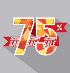 Discount 75 percent off vector