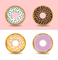 Donuts with sprinkles vector