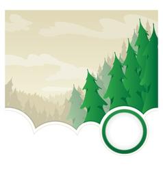 EvergreenWildernessjpg vector image vector image