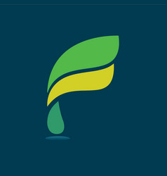F modern business letter logo design vector