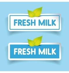Fresh milk label vector