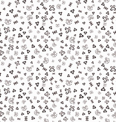 Hand drawn ornamental sketched Doodles seamless vector image vector image