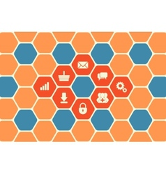 Hexagon Texture vector image vector image