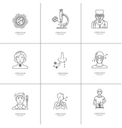 Icons disease prevention vector