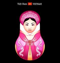 Matryoshka Vietnam girl vector image