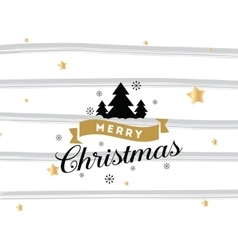 Merry christmas typography background vector