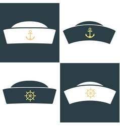 Sailor hat icon vector