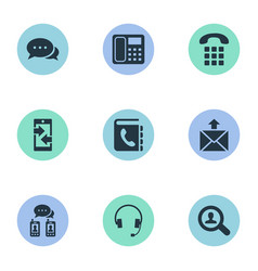 set of simple communication vector image vector image
