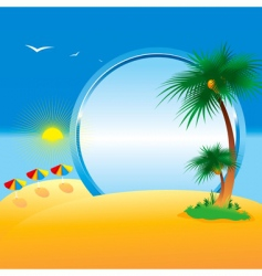 summer collection of four seasons vector image vector image