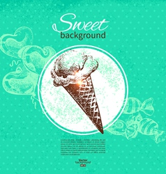 Vintage sweet background vector image
