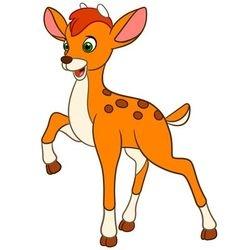 young cartoon deer vector image vector image