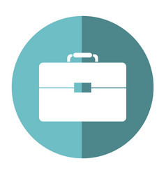 Portfolio suitcase business document shadow vector