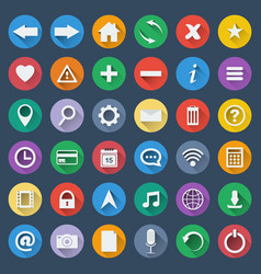 Set of 36 software icons vector