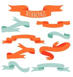 Elegant ribbons collection vector