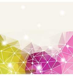 Abstract background of triangles vector